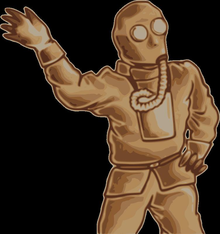 Free Japanese Gas Mask Man