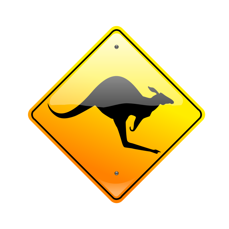Free Kangaroo Sign