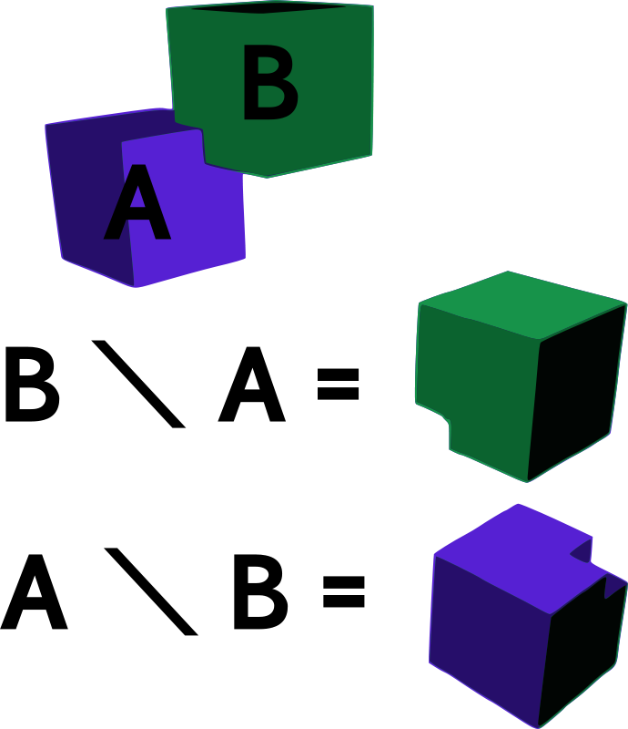 Free Difference of Two Cubes