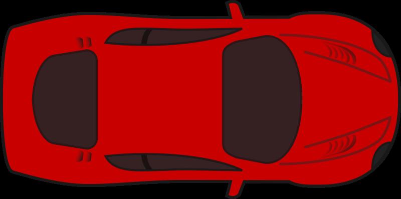 Free Red racing car top view