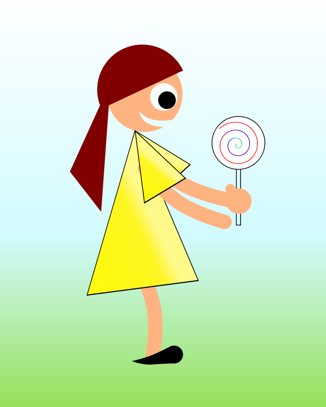 Free Girl with Lollypop