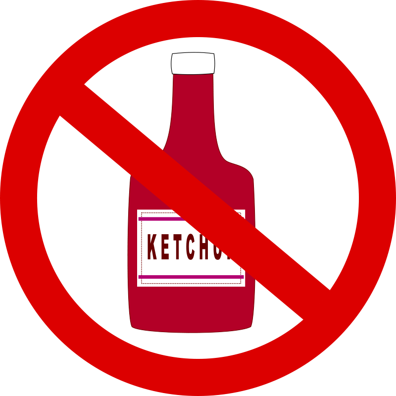 Free Ketchup forbidden