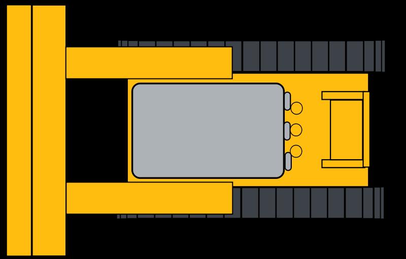 Free Simple yellow bulldozer