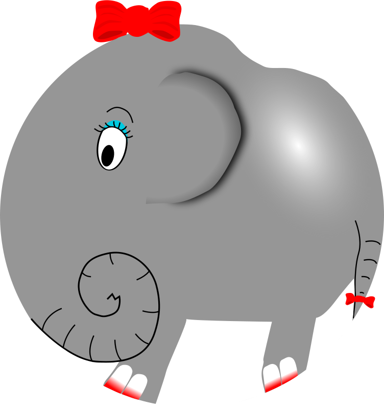 Free Clipart: Elephant Girl - Funny Little Cartoon | palomaironique