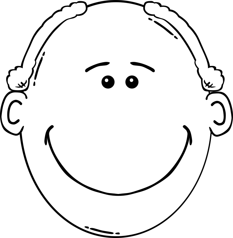 Free Man Face Cartoon