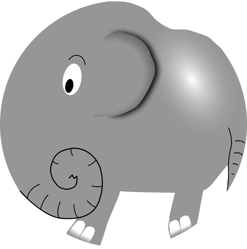 Free Clipart: Elephant - Funny Little Cartoon | palomaironique