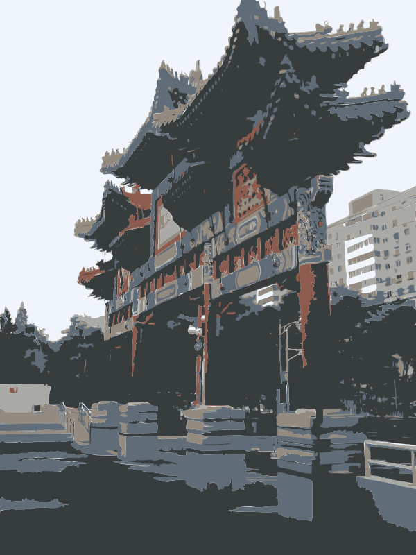 Free Clipart: Chinese Architecture in Beijing (all that's left) | rejon