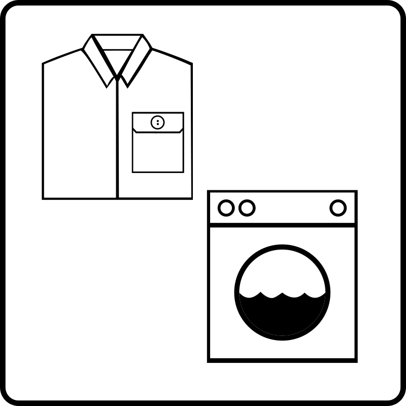 Free Hotel Icon Has Laundry Service