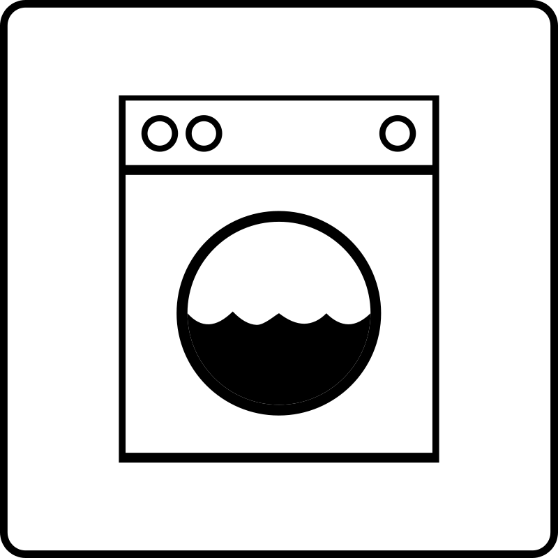 Free Hotel Icon Has Laundry