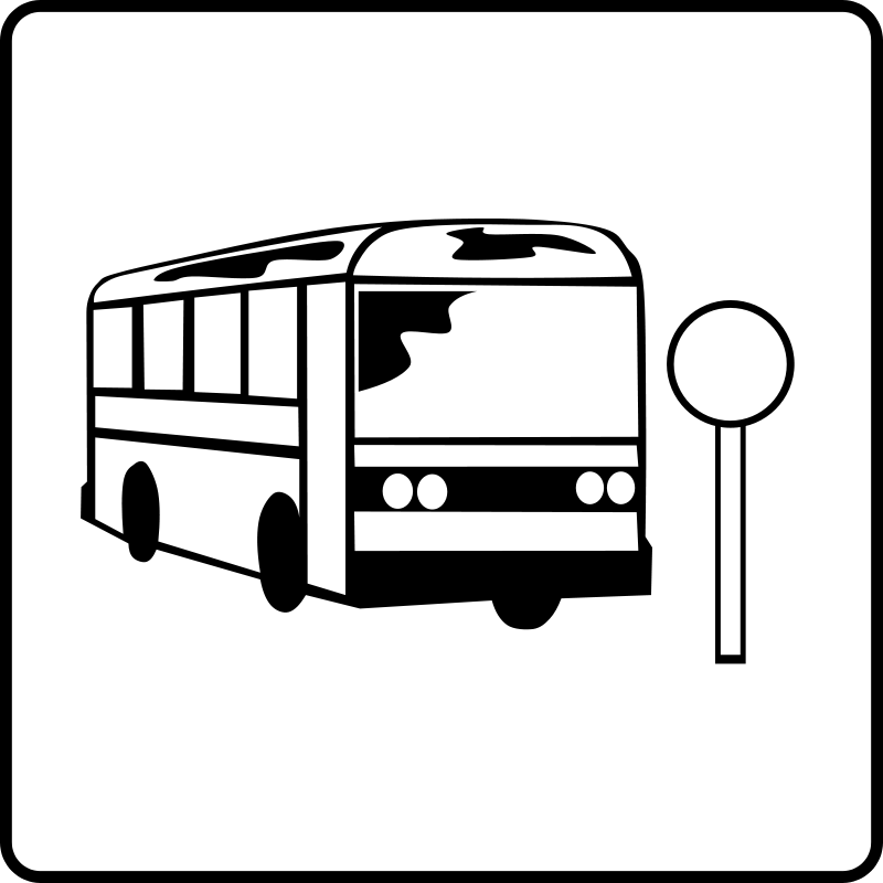Free Hotel Icon Near Bus Stop