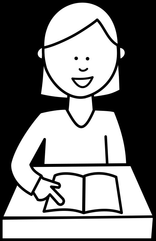 Free Élève lisant / Student reading
