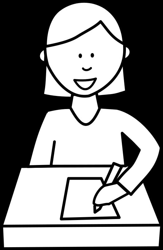 Free Élève écrivant / Student writing