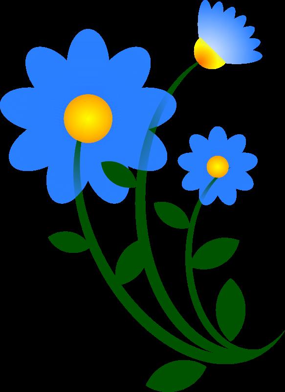 Free Blue Flower Motif