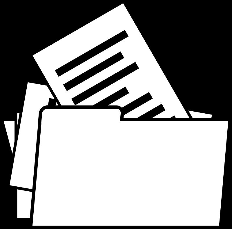 Free Folder (Line Drawing)