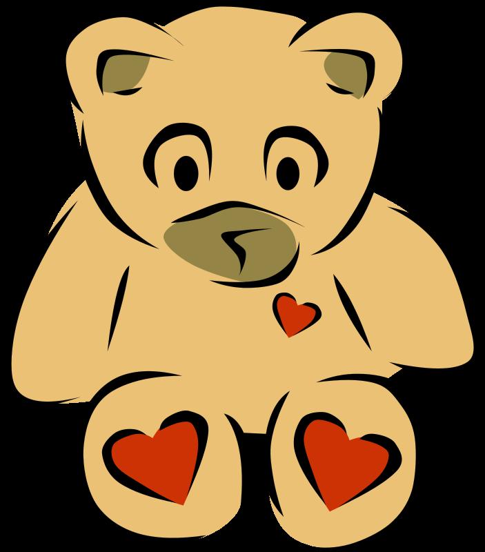 Free Teddy Bear with hearts