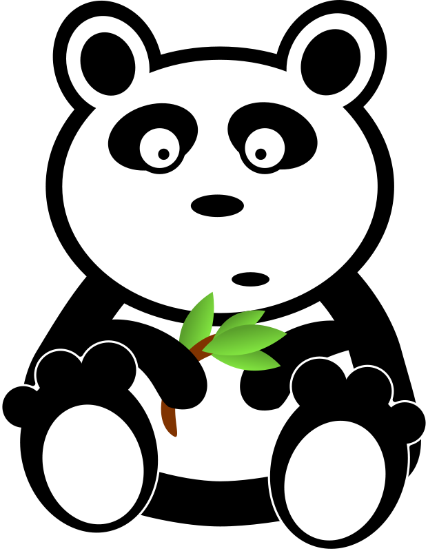 Free Panda with bamboo leaves