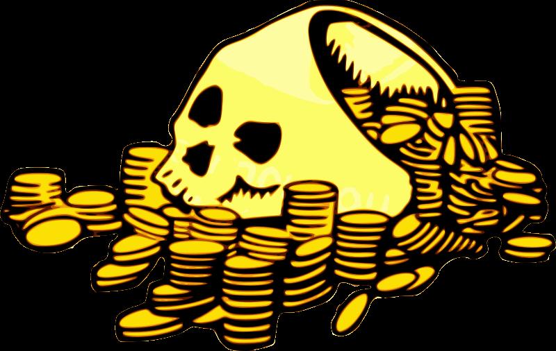 Free Skull & Money