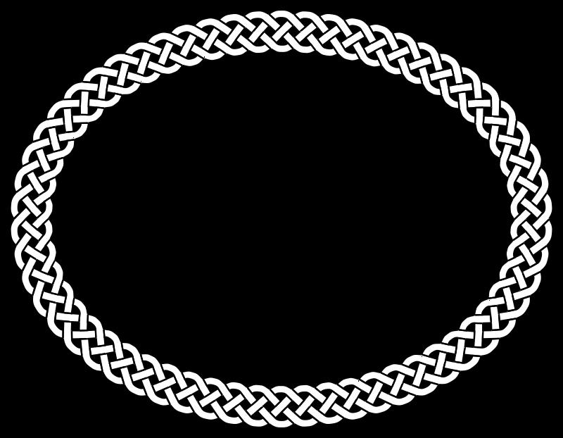 Free Clipart: 4-plait border oval | pitr