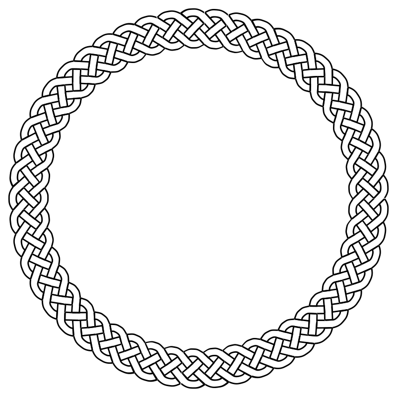 Free 4-plait border circle