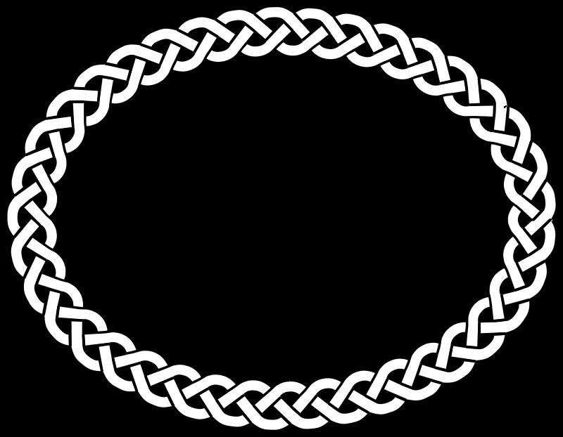 Free 3-plait border oval