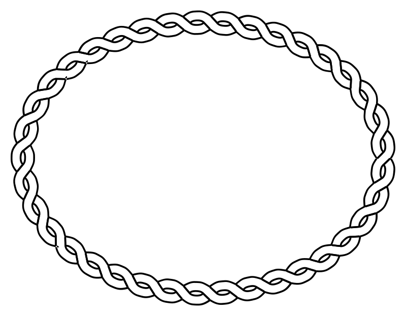 Free rope border oval