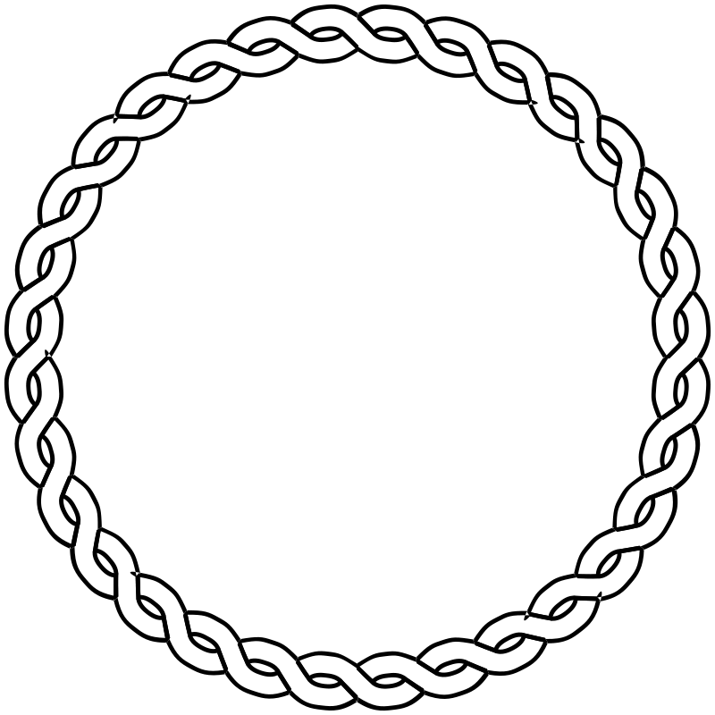 Free rope border circle
