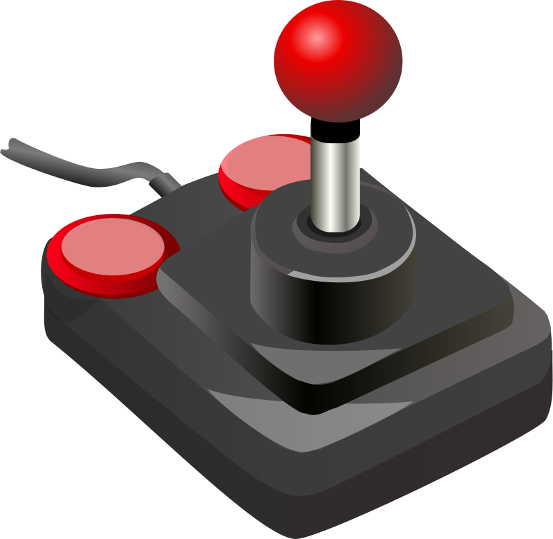 Free joystick black red petri 01