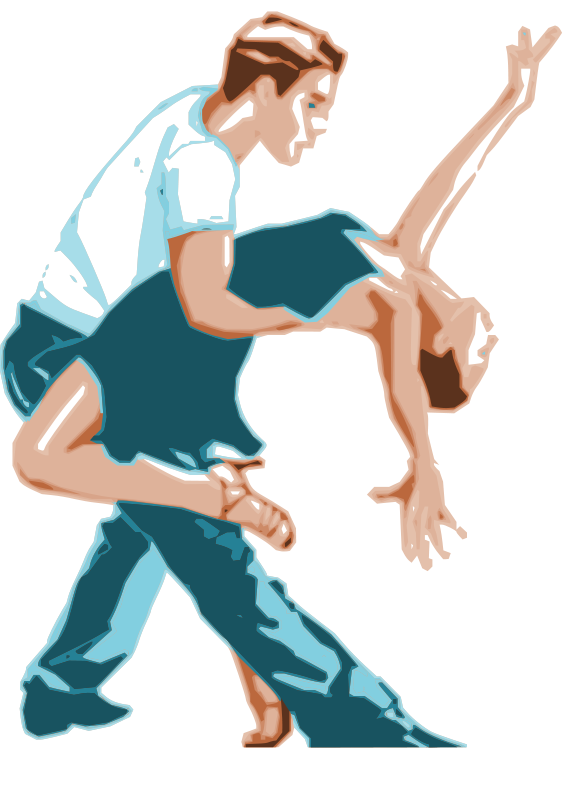 Free Dancers in Two-Tone Color
