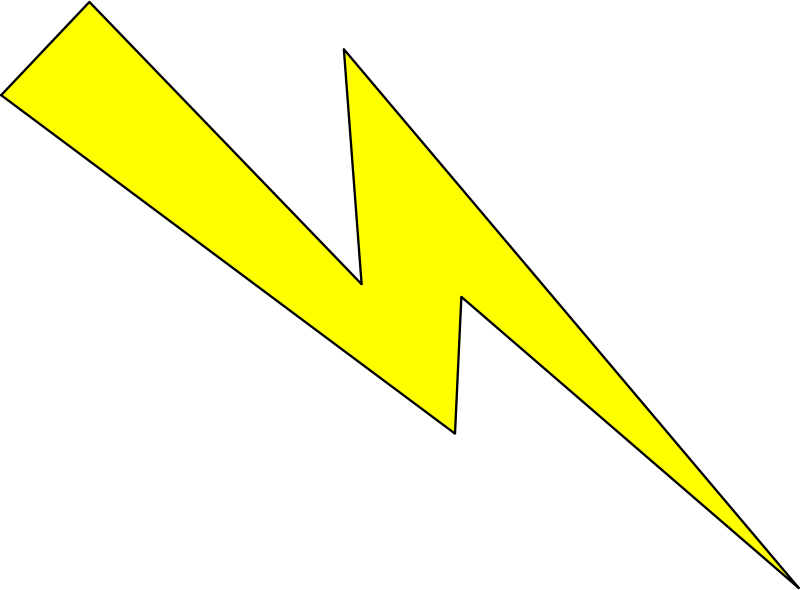 Free Lightning yellow with black outline