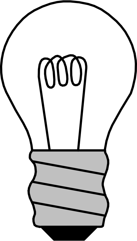 Free Clipart: Light Bulb Off | palomaironique