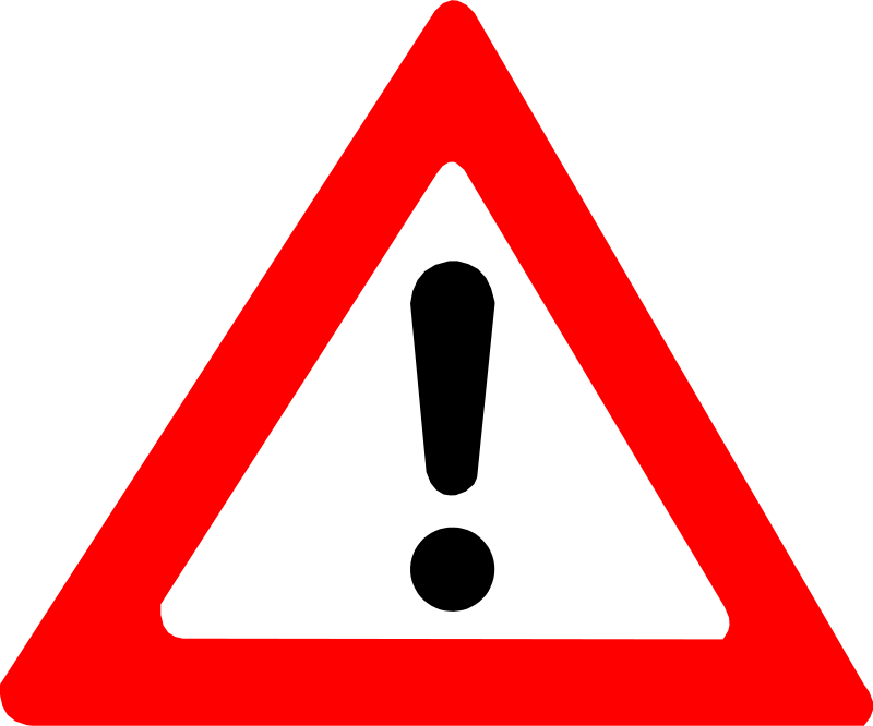 Free Clipart: Warning Sign | palomaironique