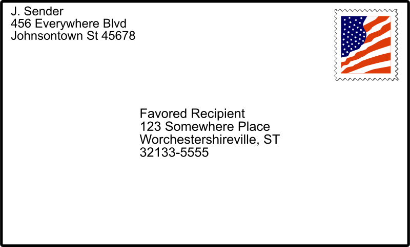Free addressed envelope with stamp 01