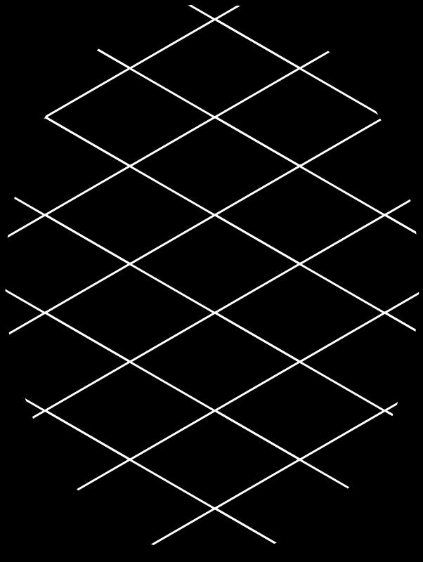 Free pattern diamond inverted