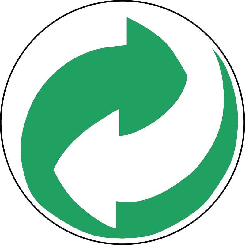 Free Recycling Symbol Green and White Arrows