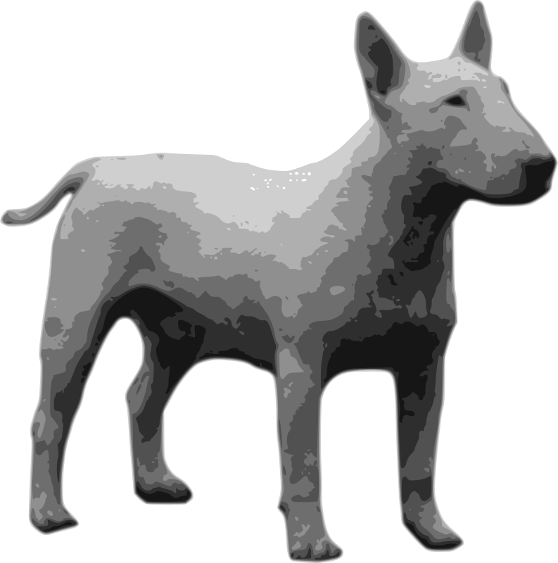 Free bullterrier grayscale