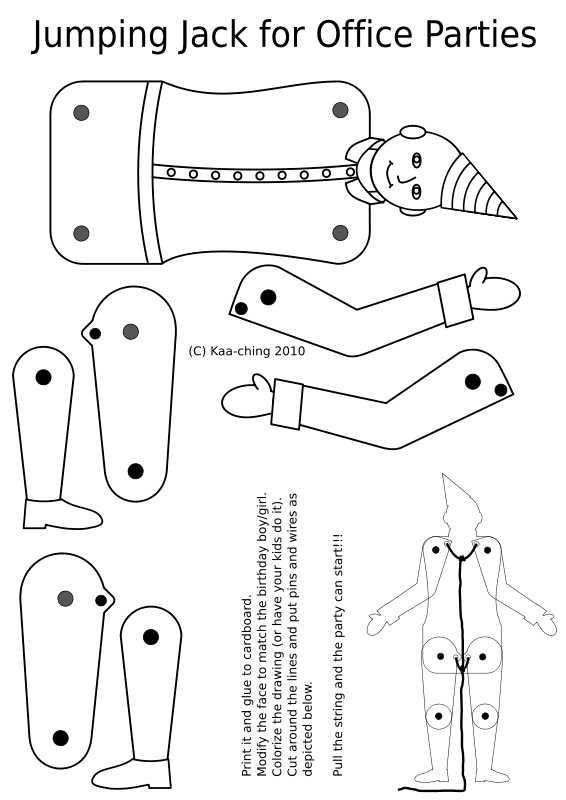 Free Jumping Jack coloring page