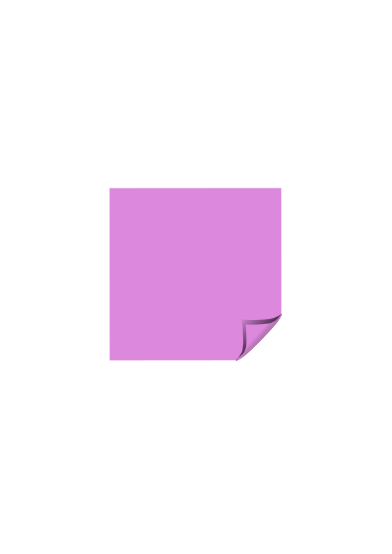 Free Sticky Note Purple Folded Corner