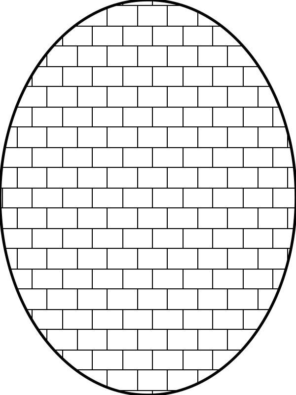 Free pattern brick outline
