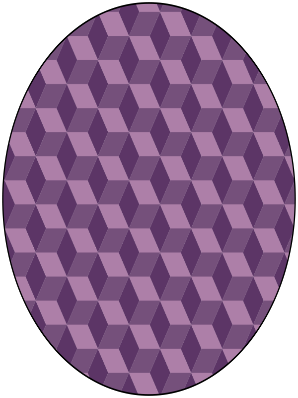 Free pattern false cubes