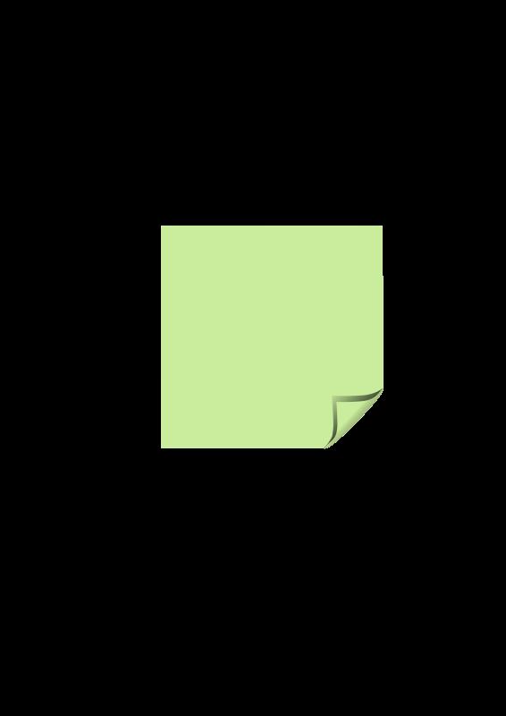 Free Sticky Note Green Folded Corner