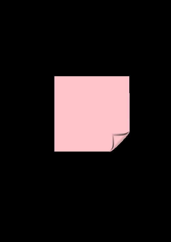 Free sticky note pink