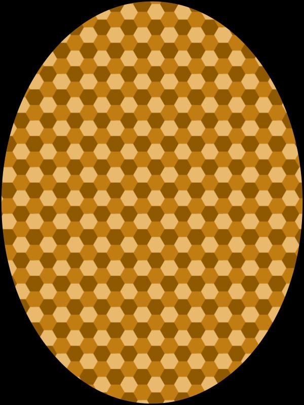Free pattern honeycomb beige