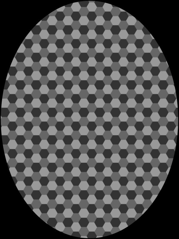 Free pattern honeycomb gray