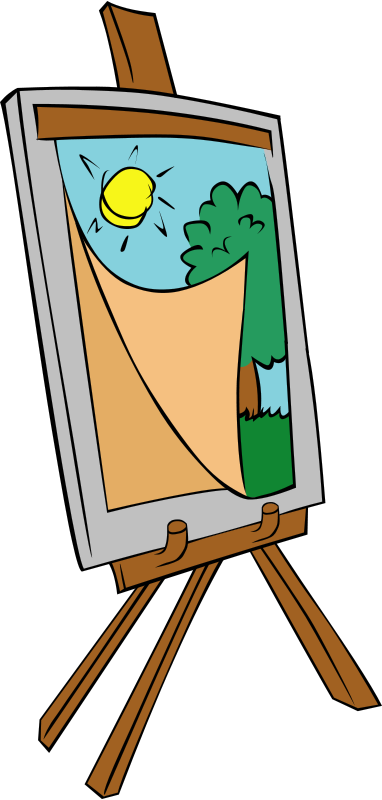 Free Easel with kids painting
