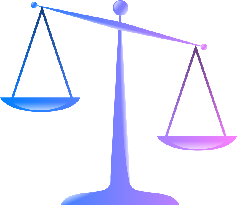 Free Scales of Justice (Colored Glassy Effect Derivative)