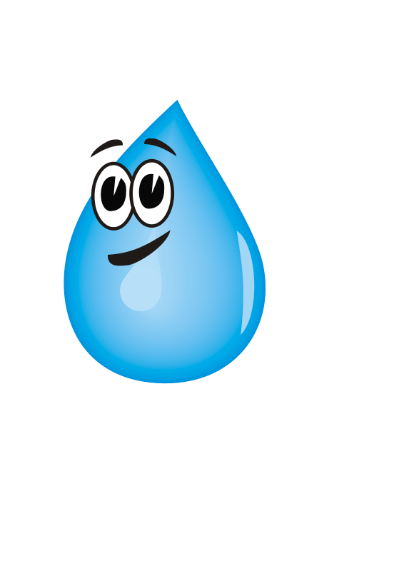 Free Water droplet