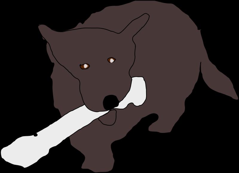 Free Dog With Bone