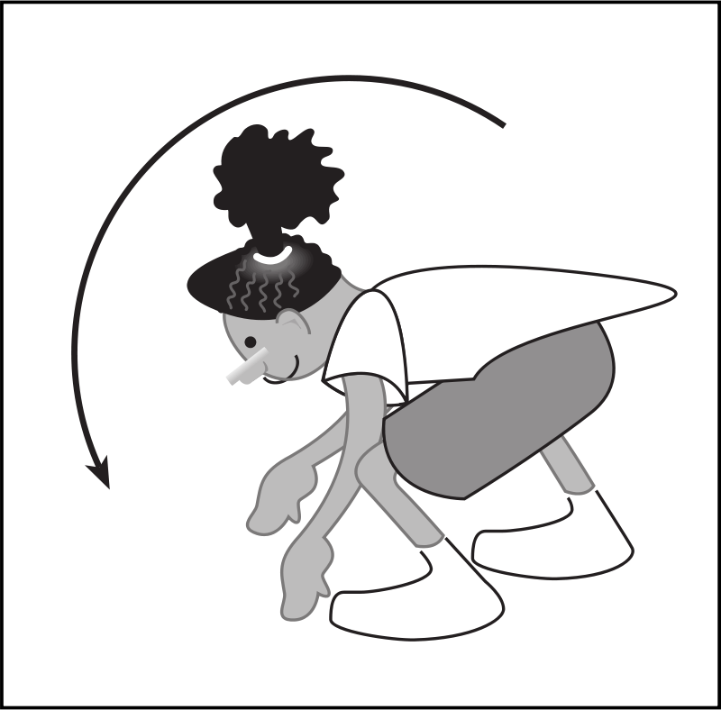 Free Clipart 58294main The Brain In Space Page 106 Kid Bending Over