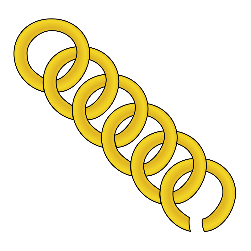 Free gold chain of round