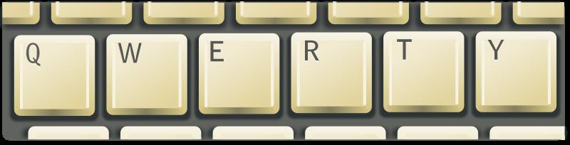 Free Clipart: Qwerty keyboard | rg1024